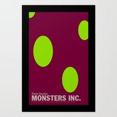Monsters Inc.   Minimal Movie Poster Art Print