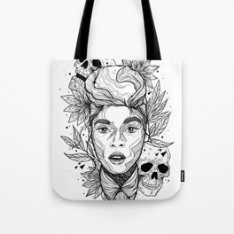 Sincerely, Jane: Suite I Black and White Overture Tote Bag