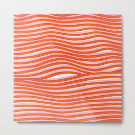 electric zebra stripes Metal Print
