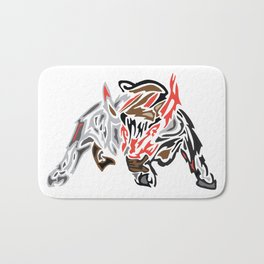 Bull Ready to Charge Bath Mat