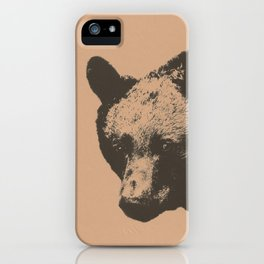 Bear face greeting iPhone Case
