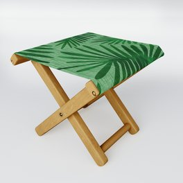 Emerald Retro Nature Print Folding Stool