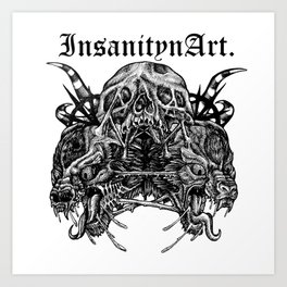 InsanitynArt's Death, As Beautiful as a Hole in the Head Original Illustration. Art Print