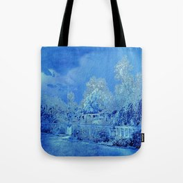 Wedgewood Blue English Garden Tote Bag