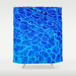 Blue Water Abstract Shower Curtain