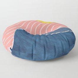 Sun, beach and sea Floor Pillow