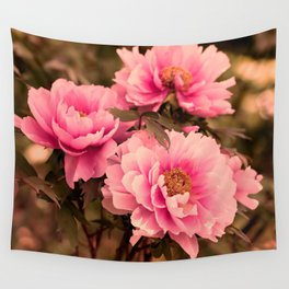 Pink  Peony Flower Wall Tapestry