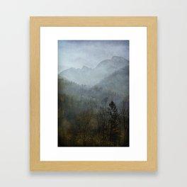Beautiful mist Framed Art Print