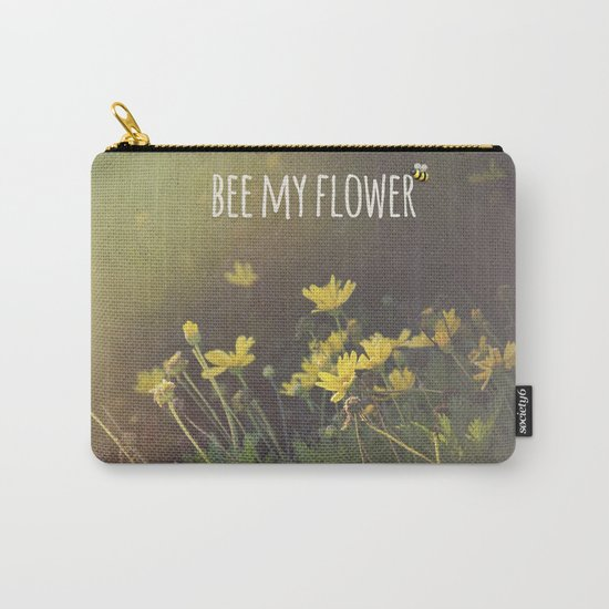 BEE MY FLOWER Carry-All Pouch