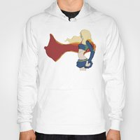 supergirl Hoodies featuring Supergirl v1 by Hallowette