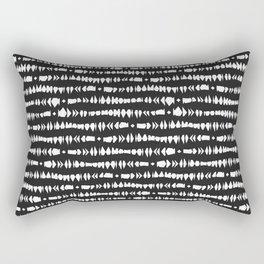 Black and White Contemporary Tribal Stripes Rectangular Pillow