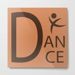 Orange Dance Symbol Metal Print