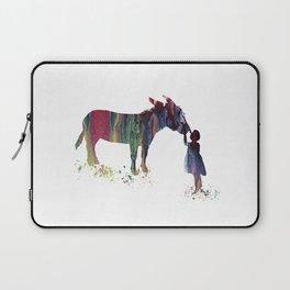 donkey and child art Laptop Sleeve
