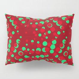 CrimsonSangriaTeal_Abstract Pillow Sham