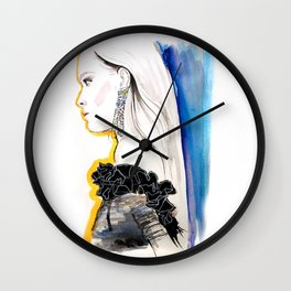 Fashion illustration 1 Wall Clock