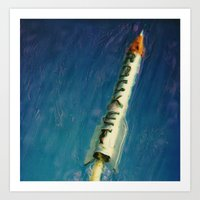 rocket Art Prints featuring Rocket by Kevin Garrison