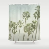 palm trees Shower Curtains featuring Palm Trees by Pure Nature Photos