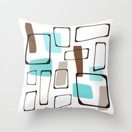 Midcentury Modern Shapes Throw Pillow