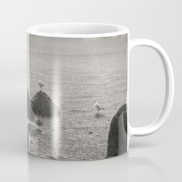 Seagulls in storm, film scanned Coffee Mug
