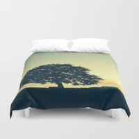stanley kubrick Duvet Covers featuring Sundown at Stanley Park by Alicia Gomez