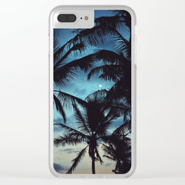 Honolulu Moon Clear iPhone Case