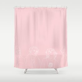 MATTY // ROSS // GEORGE // ADAM // PINK Shower Curtain