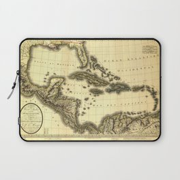 Map of the West Indies and Mexican Gulf (1806) Laptop Sleeve