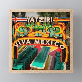 Trajineras Xochimilco Framed Mini Art Print