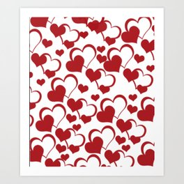 Valentines Pattern  Art Print