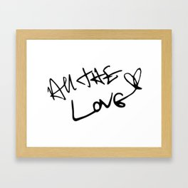 Harry Styles - All the Love Framed Art Print