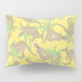 crazy kangaroos Pillow Sham