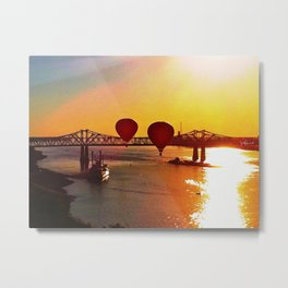 The Great Mississippi River Balloon Race Metal Print