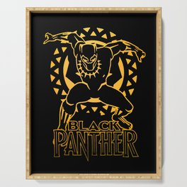 Black Panther Golden Warrior Serving Tray