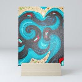 The Sea Dances with The Night Mini Art Print