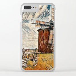 Old Wind Mill Clear iPhone Case