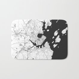 Portland Maine Map Gray Bath Mat