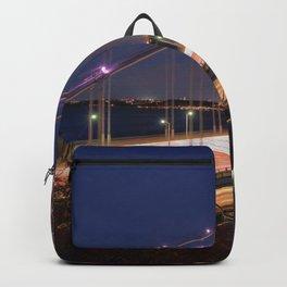 Famous George Washington Bridge Hudson River New York City USA Nightlife Ultra HD Backpack