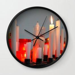 Votive wax candles Wall Clock