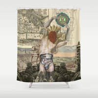 atlas Shower Curtains featuring Atlas by DIVIDUS