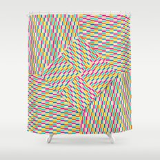 Summer Party Flag Shower Curtain