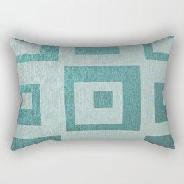 Retro,1950's pattern,geomtric,metallic,teal,tourquise,beautiful,glam,elegant,chic,vintage,pattern Rectangular Pillow