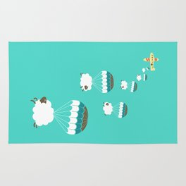 Sheepy clouds Rug