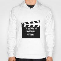 netflix Hoodies featuring Netflix Killed Hollywood by Katie Gaughan