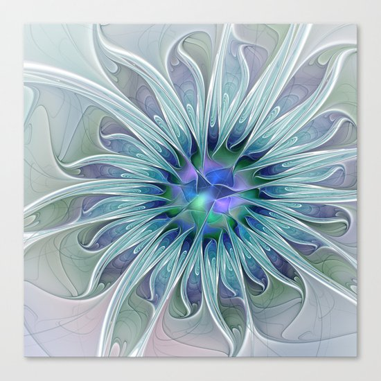 Floral Beauty, Fantasy Flower Canvas Print