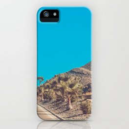 Andalusia street with palm trees at sunset. Retro toned iPhone Case