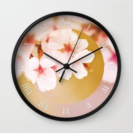 Bloom fairy cherry tree flowers Wall Clock