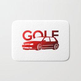 Volkswagen Golf Mk4 - classic red - Bath Mat