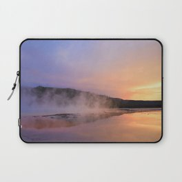 sunset at grand prismatic Laptop Sleeve