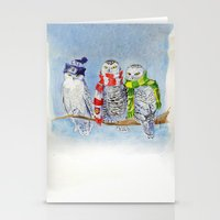 arsenal Stationery Cards featuring Football Owl by Clare Elizabeth
