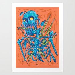 (Des)Integration Series - Blueskeleton Art Print